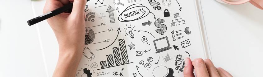 Brainstorming business plan close up 908295